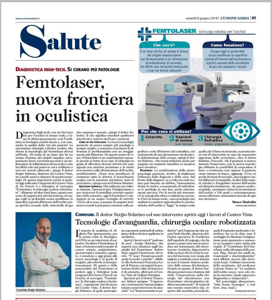 Centro Vista: Novembre 2018 i primi trattamenti del Cheratocono in Sardegna con tecnica Stare X. Sempre avanti.