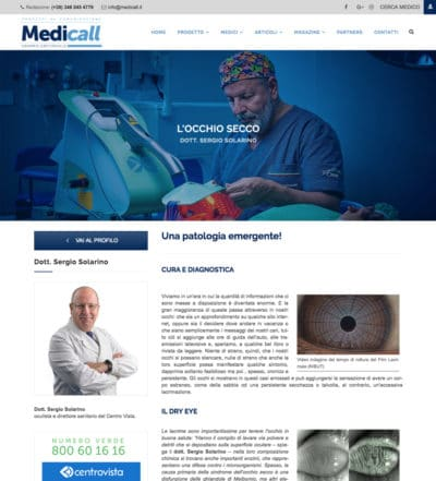 Sergio Solarino parla dell'occhio secco su Medicall