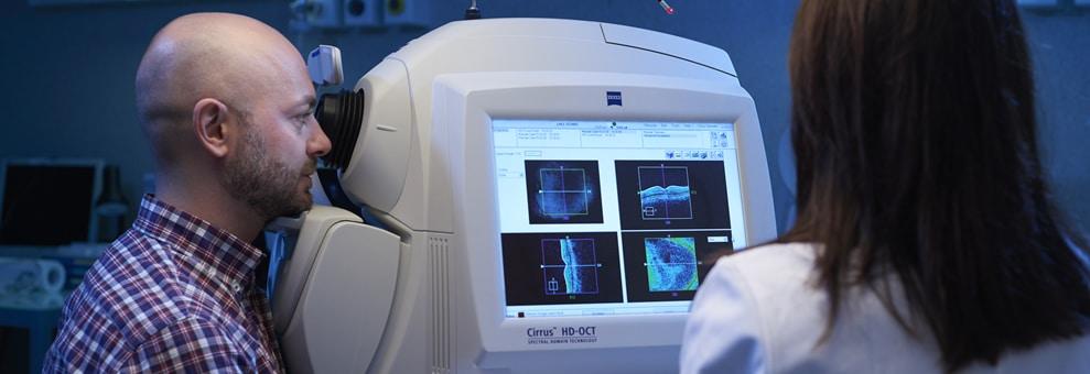 Oct tomografia radiazione ottica coerente