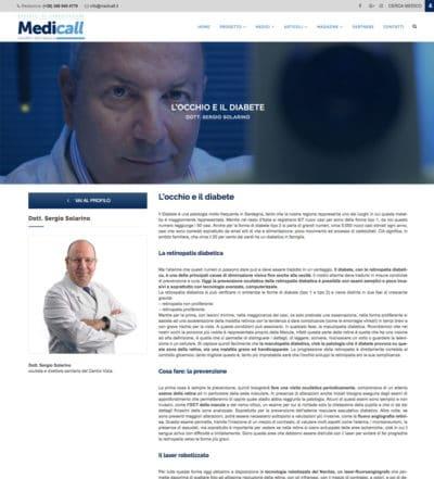 Sergio Solarino Medicall: Occhio e diabete