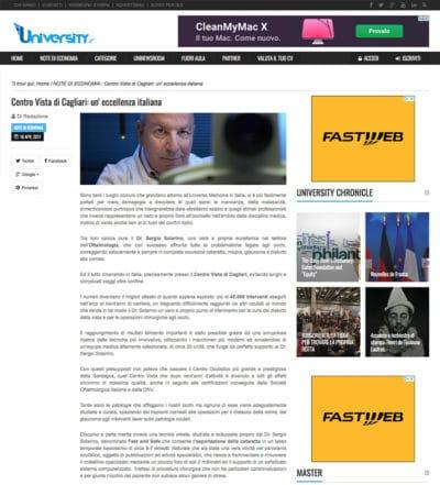Sergio Solarino articolo University