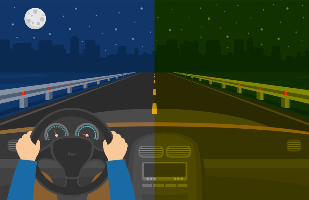 Occhiali con lenti gialle non migliorano la guida notturna