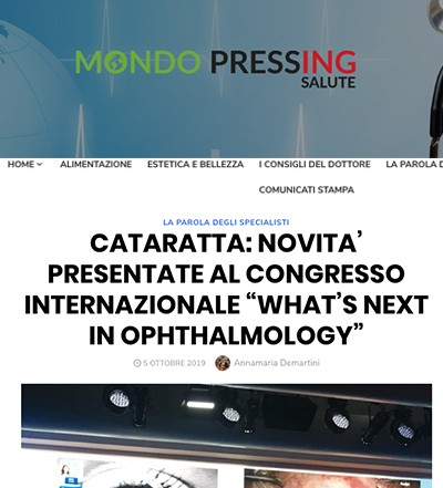 Mondo Pressing Salute What's Next Ophthalmology